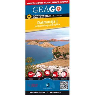 GEAGO Dalmacija I turistična karta 1:150 000 - Kolesarski center Valy-Žagar